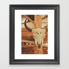 Cowboy Ranch Framed Art Print