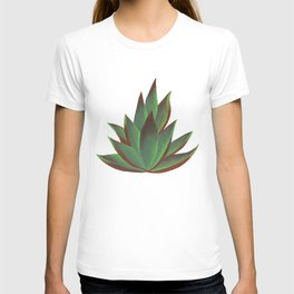 Red and Green Aloe Vera Plant T-shirt