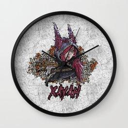 League of Legends XAYAH - graffiti style Wall Clock