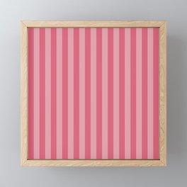 Large Nantucket Red Cabana Tent Stripes Framed Mini Art Print