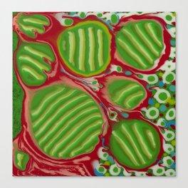 Untitled, green stripes Canvas Print
