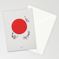 Koi and Sun Stationery Cards