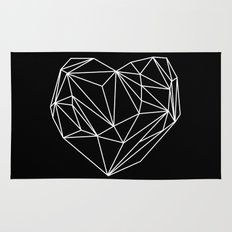 Heart Graphic (Black) Rug
