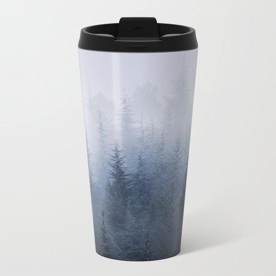 Misty fantasy forest. Metal Travel Mug