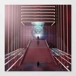 HALL OF COURAGE - ∀ Canvas Print