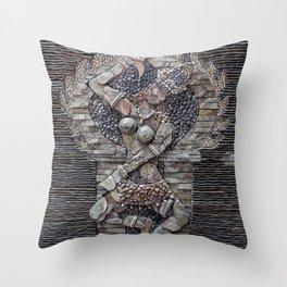 Mosaic Wall Art Throw Pillow