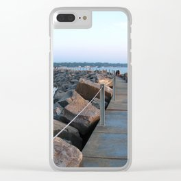 Sunset Bay Clear iPhone Case