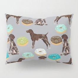 German Shorthair Pointer donuts dog art custom pet portraits of dog breeds by pet friendly Pillow Sham
