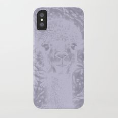 Ghostly alpaca and Lilac-gray mandala iPhone X Slim Case