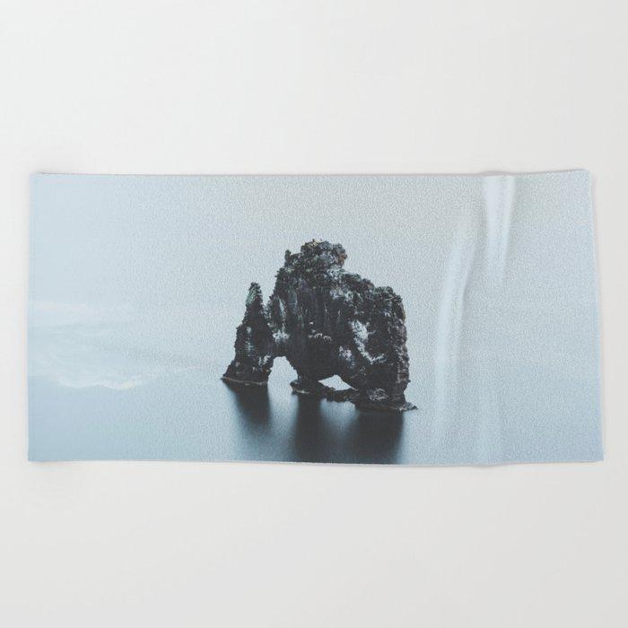 Hvitserkur, Iceland Beach Towel