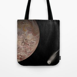 An Icy Moon with Comet Tote Bag