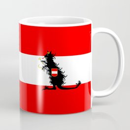 Australia - Kangaroo on Austrian Flag Coffee Mug