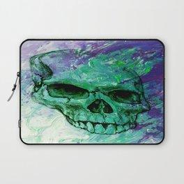Purple and Green Skull Print Laptop Sleeve
