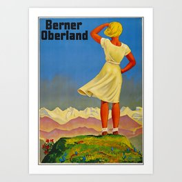 Berner Oberland Travel Poster Art Print