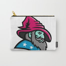 Wizard With Stars Mascot Carry-All Pouch