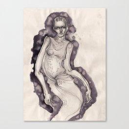Bleeding ink fashion illustration Canvas Print