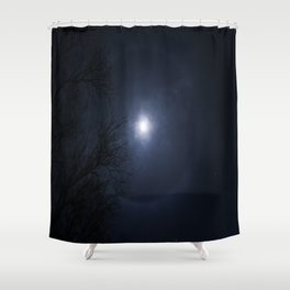 Ring around the Moon Shower Curtain