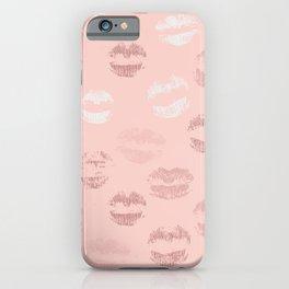 Peach Lipstick Print iPhone Case