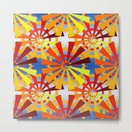 colorful gear wheels Metal Print