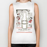 minnie mouse Biker Tanks featuring Old school mickey mouse / minnie Mouse / milk by tshirtsz