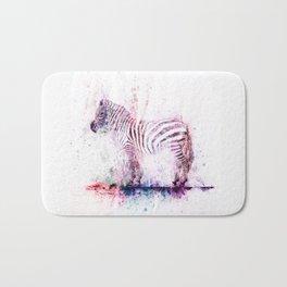 Watercolor Wash Zebra Bath Mat