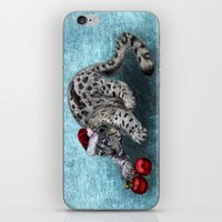 snow leopard iPhone & iPod Skins featuring Snow Leopard by Anna Shell