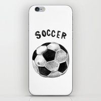 soccer iPhone & iPod Skins featuring Soccer by Matthias Leutwyler