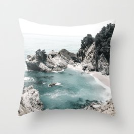 California Beach Throw Pillow