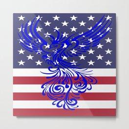 America Is Reborn Pro Democratic Phoenix Metal Print