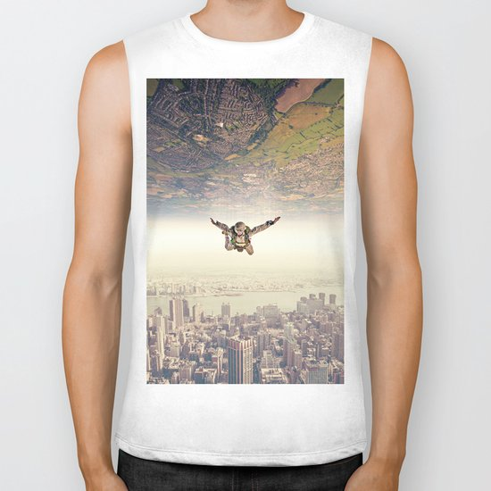 Diving to the Parallel Worlds Biker Tank