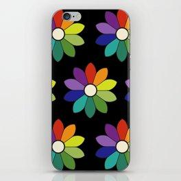 Flower pattern based on James Ward's Chromatic Circle (enhanced) iPhone Skin