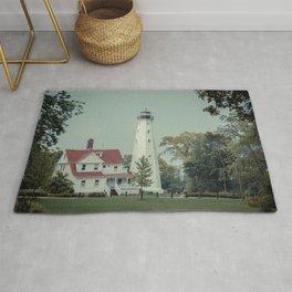 North Point Light Station Milwaukee Lake Michigan Historic Lighthouse  Rug