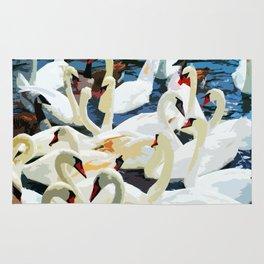 Swans on the Lake Rug
