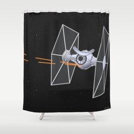 tie f.eye.ghter Shower Curtain