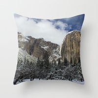 yosemite Throw Pillows featuring Yosemite by Michelle Chavez