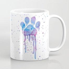 Watercolor Paw Print Coffee Mug