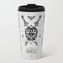 Legend of Zelda Hylian Shield Foundry logo Iconic Geek Line Artly Travel Mug