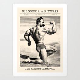 Filosofía & Fitness Art Print