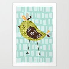 Green Tweetie Bird Art Print