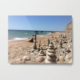 Rock formations on Block Island Metal Print