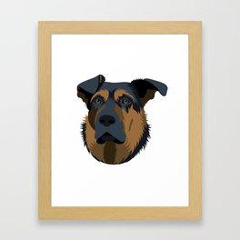 Ruby (German Shepard) Framed Art Print