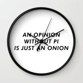 OpiNION Funny Wall Clock