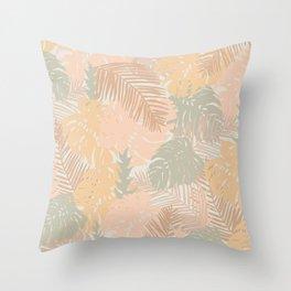Tropical Boho Minimalism Throw Pillow