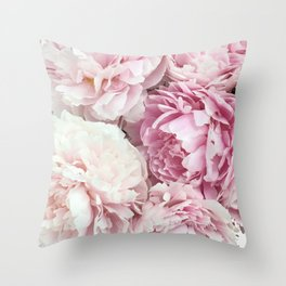 A bunch of peonies Throw Pillow