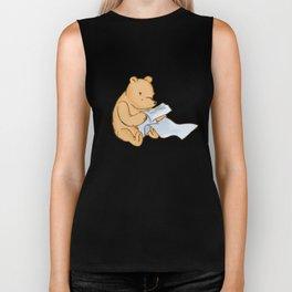 Pooh Reading Biker Tank