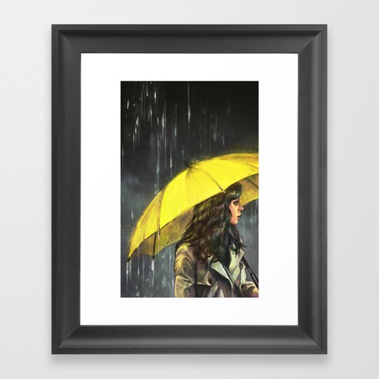 All Upon the Downtown Train Framed Art Print