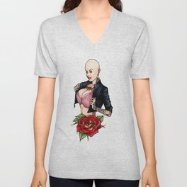 Tats on Girls Vol.1 - Balled with japanese cat sleeve Unisex V-Neck
