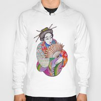 geisha Hoodies featuring Geisha by LuxMundi