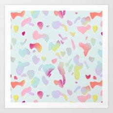 Sorbet drops Art Print