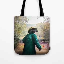 Ronaldo Raven on his way to a Romantic Rendezvous Tote Bag